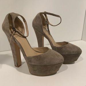 Zara Suede Platform Heels